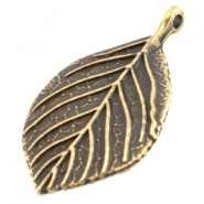 DQ metal charm leaf Antique bronze (nickel free)
