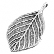 DQ metal charm leaf Antique silver (nickel free)