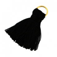 Small tassels with ring Black