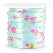 Trendy stitched cord 6x4mm Light blue