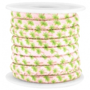Trendy stitched cord 6x4mm Light rose