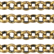 DQ metal steelchain 3.0mm  Antique bronze (nickel free)