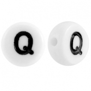 Acrylic letterbeads letter Q White