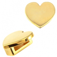 DQ metal Cuoio/Love Crystal slider heart Gold