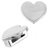 DQ metal Cuoio/Love Crystal slider heart Antique silver