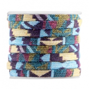 Flat 5mm Aztec Multicolor purple yellow