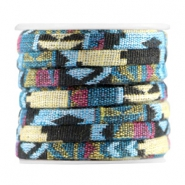 Flat 5mm Aztec Multicolor black yellow