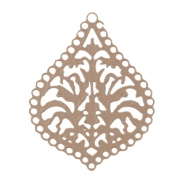 Drop shaped bohemian pendant Taupe