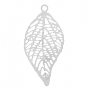 Bohemian pendant with loop leaf Silber