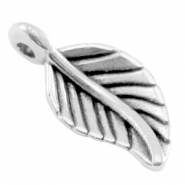 DQ metal leaf charm Antique silver (nickel free)