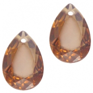 Drop shaped charms 10x14mm Smoke topaz opal