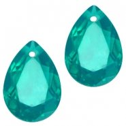 Drop shaped charms 10x14mm Emerald green