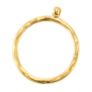 DQ metal pendant/charm with loop 35mm Gold (nickel free)
