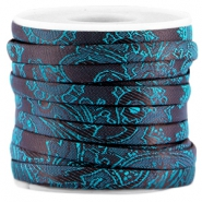 Trendy Baroque flat cord 5mm Aubergine - blue