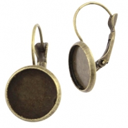 Metal earrings for 12mm cabochon Bronze