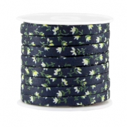 Trendy flat cord 5mm Dark blue