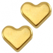 DQ metal heart shaped bead Gold (nickel free)
