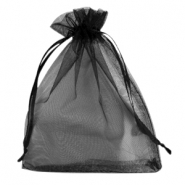 Organza jewellery bag 12x15cm Black
