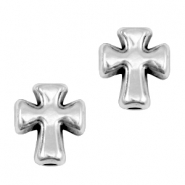 DQ metal beads cross Antique silver (nickel free)