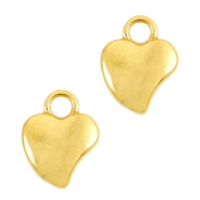 DQ metal heart charms  Gold (nickel free)