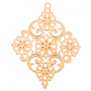 Diamond shaped bohemian charm Rose gold