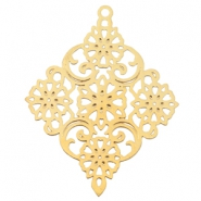 Diamond shaped bohemian charm Gold
