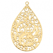 Drop shaped Bohemian charm Gold