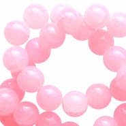 8mm crackled opal glass beads Pink