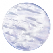 Pearly 35mm flat Polaris Elements cabochon Sapphire blue