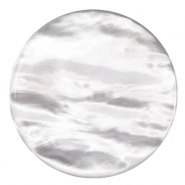 Pearly 35mm flat Polaris Elements cabochon Greige
