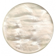 Pearly 35mm flat Polaris Elements cabochon Honey beige