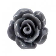 Shiny rose beads 10mm Antracite grey