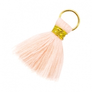 Ibiza style tassels 2cm Gold-Light peach orange