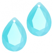 Drop shaped SQ faceted charms 10x14mm Blue turquoise opal