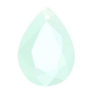 Drop shaped SQ faceted charms 13x18mm Pacific blue opal