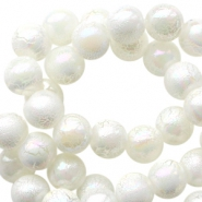 8mm acrylic beads marble pearl White