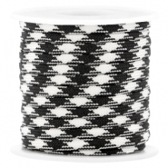 Trendy 4mm flat surfcord Black-white