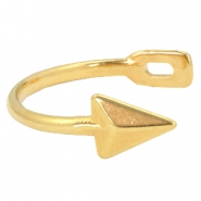 DQ metal findings half arrow bracelet Gold (nickel free)
