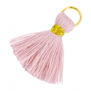 Ibiza style tassels 2cm Gold-Antique pink