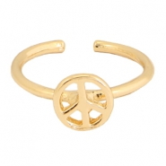 Must-have peace ring Gold