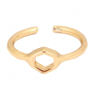 Must-have pentagon ring Gold