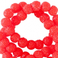 6 mm sparkling beads Candy red