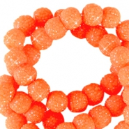 8 mm sparkling beads Neon orange