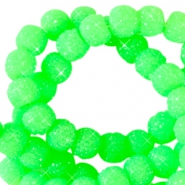 6 mm sparkling beads Neon green