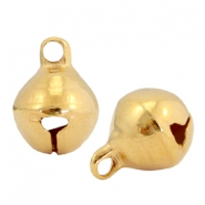 DQ metal charms little bell 6mm Gold (nickel free)