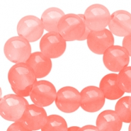 8 mm opal glass beads Neon coral pink