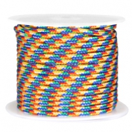 Trendy round surfcord 3mm Blue yellow red