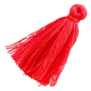 Tassels ibiza style 3cm Coral red