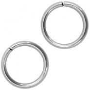 Jumprings stainless steel 6mm Silver