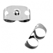 Stainless steel earring backs  Silver